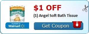 image regarding Angel Soft Printable Coupon identified as Sizzling Printable Coupon: $1.00 off (1) Angel Comfortable Bathtub Tissue ·