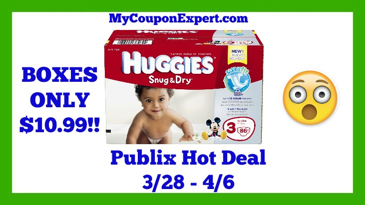 Publix Hot Deal Alert! Boxes Of Huggies Diapers Only $10