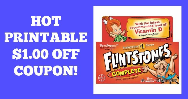 Printable coupon for flintstones vitamins