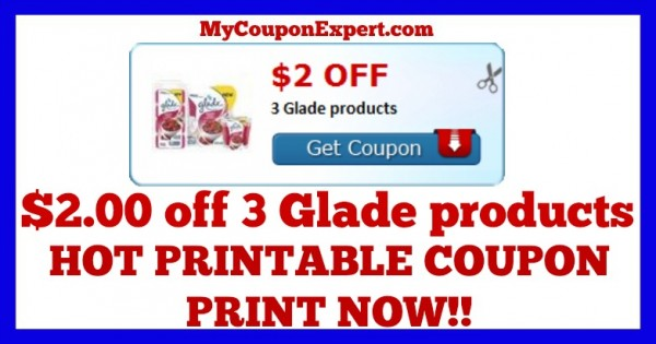photograph regarding Glade Printable Coupons titled Examine This Coupon Out Print Presently!! $2.00 off 3 Glade