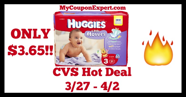 Check This Deal Out – Huggies Diapers Only $3.65 at CVS Until 4/2