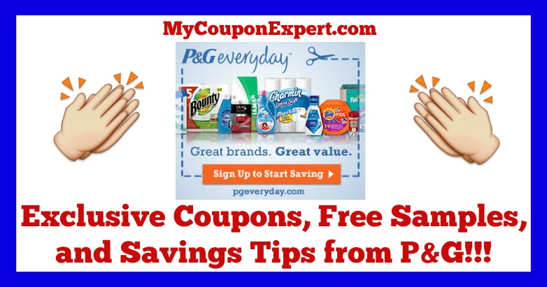 Check It Out!!! Exclusive Coupons, Free Samples, and Savings Tips from P&G Everyday