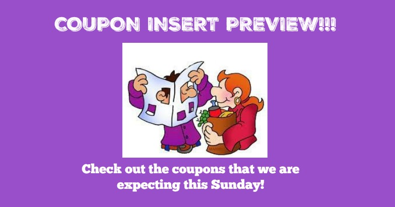 Coupon Insert Preview – Sunday, August 19th, TWO inserts!