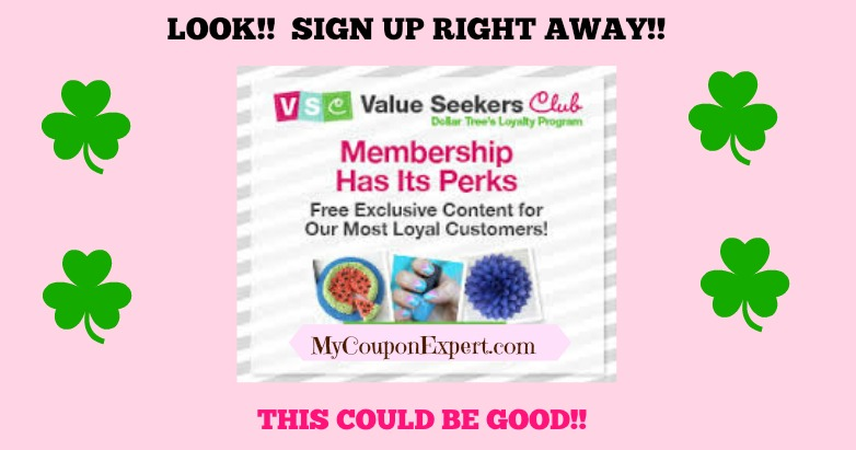 LOOK!!  Dollar Tree started a LOYALTY Program!!  Sign up ASAP!!  Plus coupon matchups!