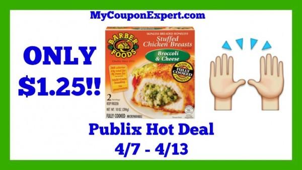 Publix Hot Deal Alert Barber Foods Stuffed Chicken Breasts Only