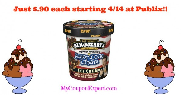Ben Jerrys Ice Cream Just 90 Publix Starting 414 on ben jerrys ice cream printable coupons