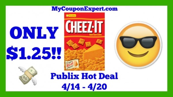 Cheez-It Baked Snack Crackers Publix Deal