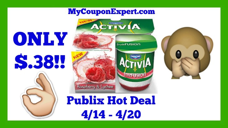 Dannon Activia Yogurt Publix Deal