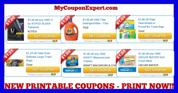 picture relating to Kraft Coupons Printable called Observe These types of Discount coupons Out Print At present! Tide, Kotex, Pleased