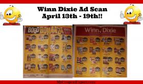 Winn Dixie AD SCAN for April 13th – 19th!!