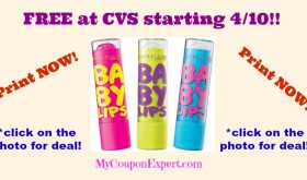 HOT DEAL!! Check this out!! FREE Maybelline Baby Lips at CVS Until 4/16!!