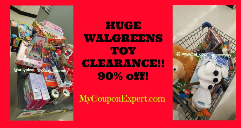 HOLD THE BUS!  HUGE Toy Clearance 90% off at Walgreens!!