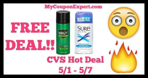 Brut Deodorant Sure Deodorant CVS Deal