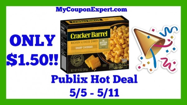 Cracker Barrel Macaroni & Cheese Dinner Publix Deal