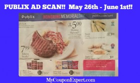 PUBLIX AD SCAN May 26th – June 1st!  VIEW ALL PAGES!
