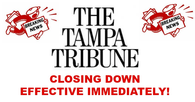 tampa tribune closing