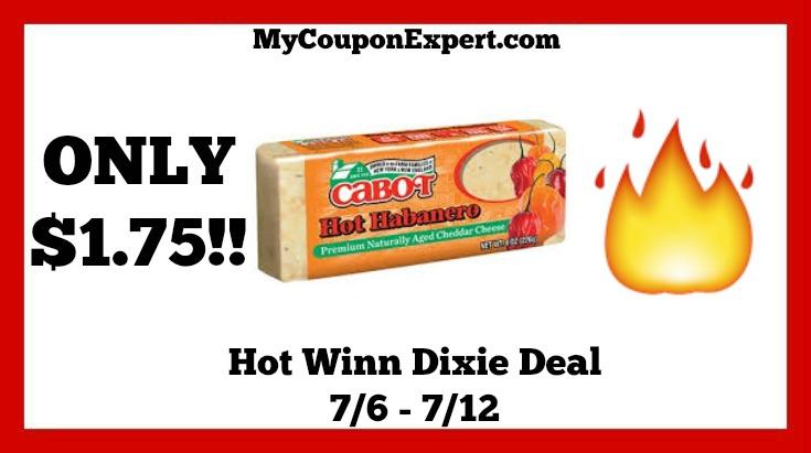 Winn Dixie Hot Deal Alert Cabot Bar Cheese Only 1 75 Until 7 12