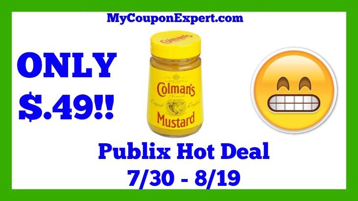 Colman's Mustard Hot Publix Deal