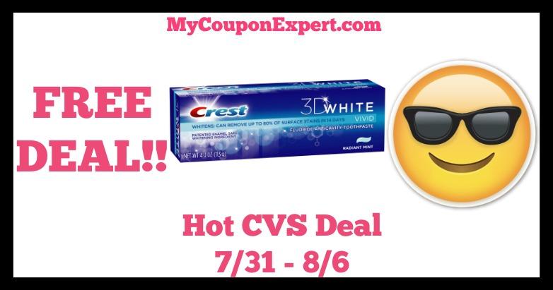 Crest Hot CVS Deal