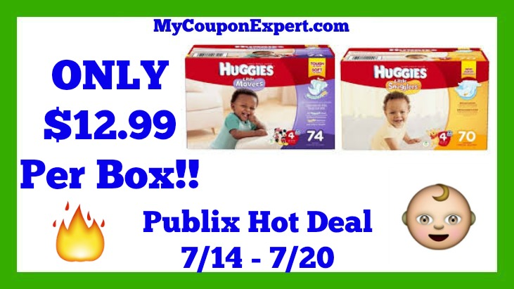 Publix Hot Deal Alert! Huggies Boxed Diapers Only $12.99