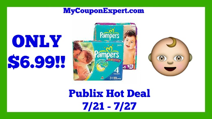Publix Hot Deal Alert! Pampers Bagged Diapers Only $6.99