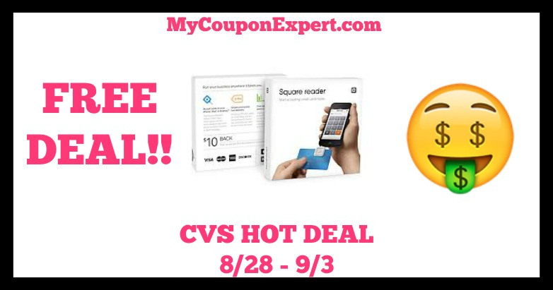 free square reader at cvs starting 8  28