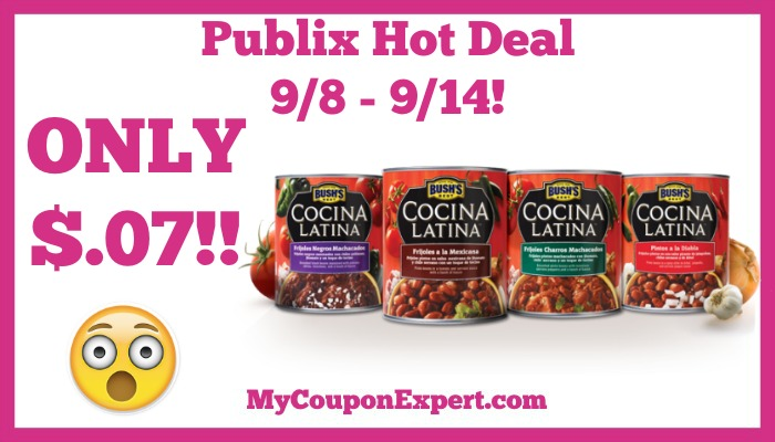 Bush's Best Cocina Latina Beans Hot Publix Deal