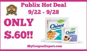 Hot Deal Alert!! Chinet Products Only $.60 at Publix 9/22 – 9/28