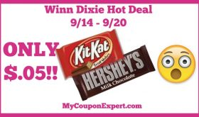 Winn Dixie Hot Deal Alert! Candy Bars Only $.05 Starting 9/14