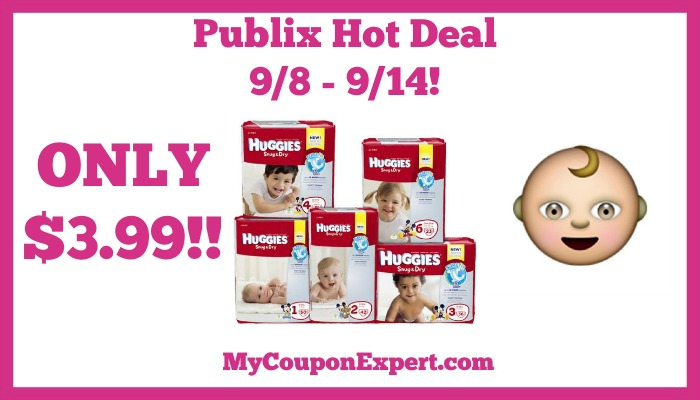 Publix Hot Deal Alert! Huggies Diapers Only $3.99 Until 9/14
