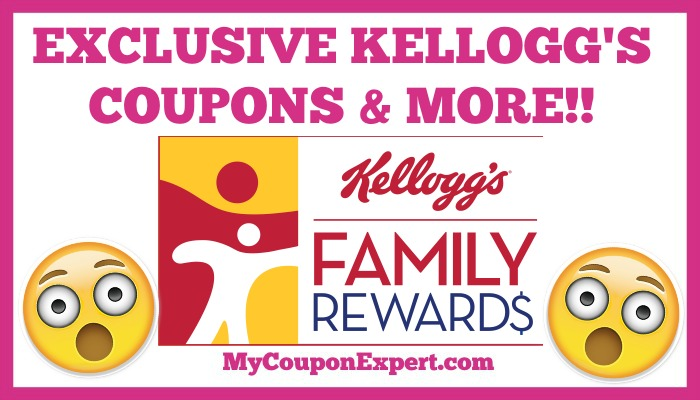 Get EXCLUSIVE Coupons & MORE from Kellog's Family Rewards Program