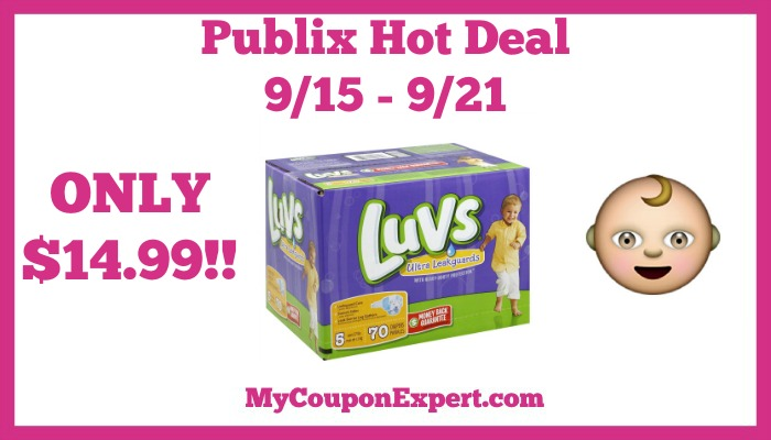 Publix Hot Deal Alert! Luvs Boxed Diapers Only $14.99