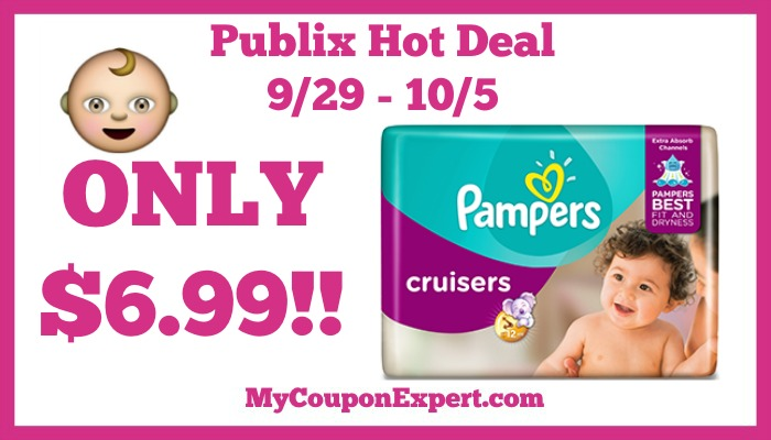 Hot Deal Alert! Pampers Diapers Only $6.99 At Publix From
