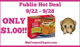 Hot Deal Alert! Tyson Products Only $1.00 at Publix from 9/22 – 9/28