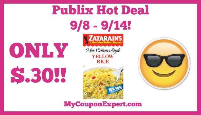 Zatarain's New Orleans Style Rice Mix Hot Publix Deal