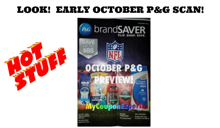 WOW!  October P&G INSERT EARLY SCAN!!  Look what's coming!!