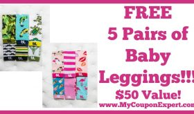 5 Pairs of Baby Leggings FREE – $50 Value + Over 100 Styles to Pick From!!
