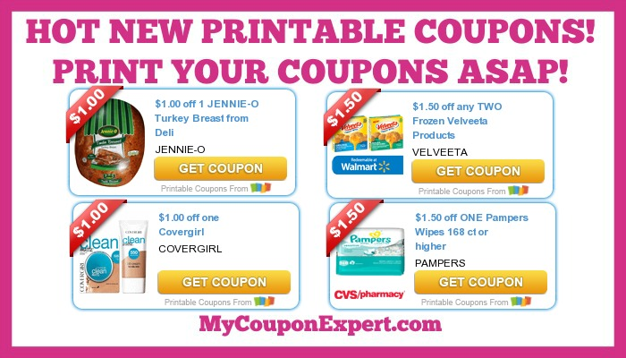 photo regarding Pampers Wipes Printable Coupons identified as Sizzling Printable Discount codes: Pampers, Velveeta, Jennie-O