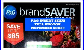 OMG!  It's the NOVEMBER P&G insert SCAN!!  SUPER HOT COUPONS!!!