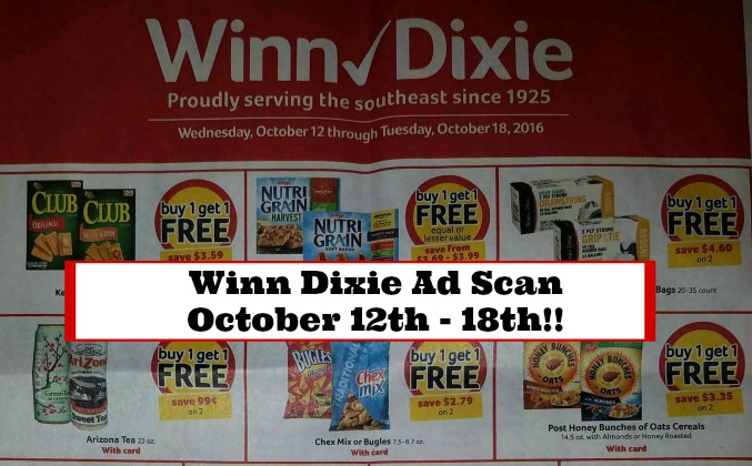 WINN DIXIE AD SCAN – October 12th – 18th!!