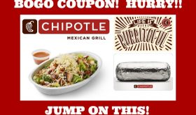 BOGO Chipotle!  Hurry and tell your friends!!  WOOHOO!