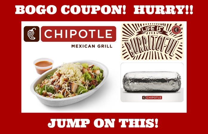 photograph regarding Chipotle Printable Coupon called BOGO Chipotle! Rush and explain to your close friends!! WOOHOO! ·