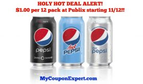 OMG!!  Pepsi 12 packs for ONE DOLLAR EACH at Publix!!  Check this out!!
