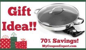 Hot Holiday Gift Idea! 12 Inch Round Electric Skillet By Culina Only $59.99 – 70% Savings!