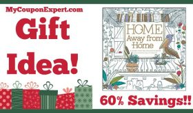 Hot Holiday Gift Idea! Home Away from Home Adult Coloring Book Only $5.96 – 60% Savings!