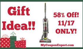 Hot Holiday Gift Idea! Hoover Vacuum Cleaner Only $79.00 (58% Savings – 11/17 ONLY!)