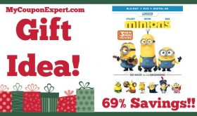 Hot Holiday Gift Idea! Minions (Blu-ray + DVD + DIGITAL HD) Only $4.99 – 69% Savings!