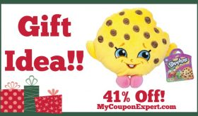 "Hot Holiday Gift Idea! Shopkins 8"" Plush, Kooky Plush Only $8.88 – 41% Off!"