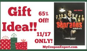 Hot Holiday Gift Idea! The Sopranos, Complete Series on DVD Only $69.99 (65% Off – 11/17 ONLY!)