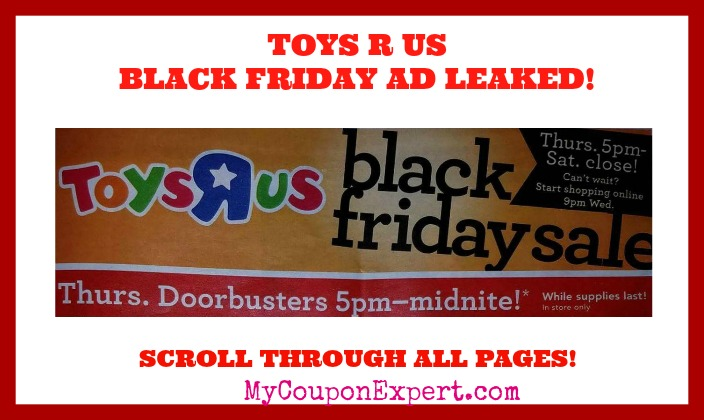 Toys R Us BLACK FRIDAY AD SCAN LEAKED!!!  Check it out here!!